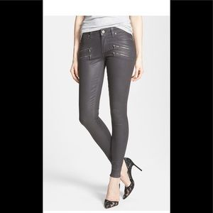 Paige Edgemont Coated skinny jeans